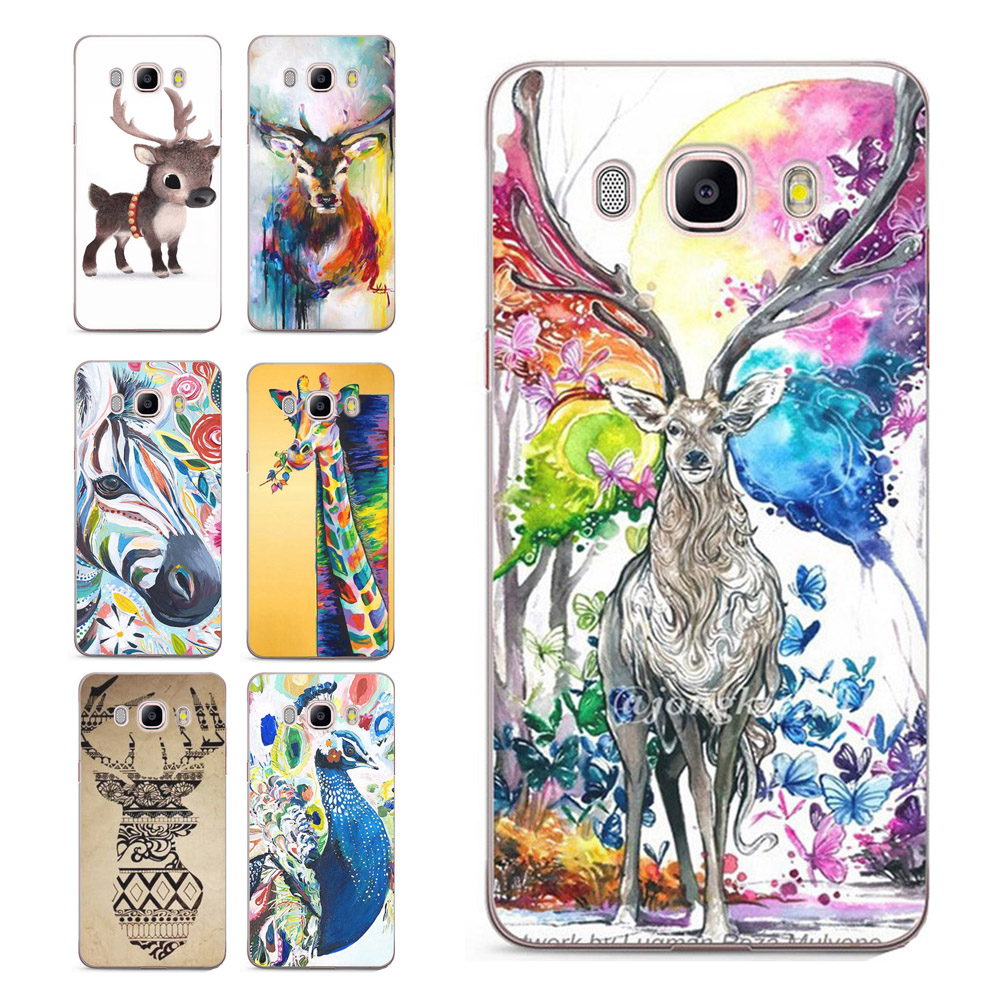 For Samsung Galaxy A3 A5 2016 2017 prime J3 J5 J7 G530H S8/plus Note 8 Cover Deer Painted Pattern Soft TPU Silicone Case C028