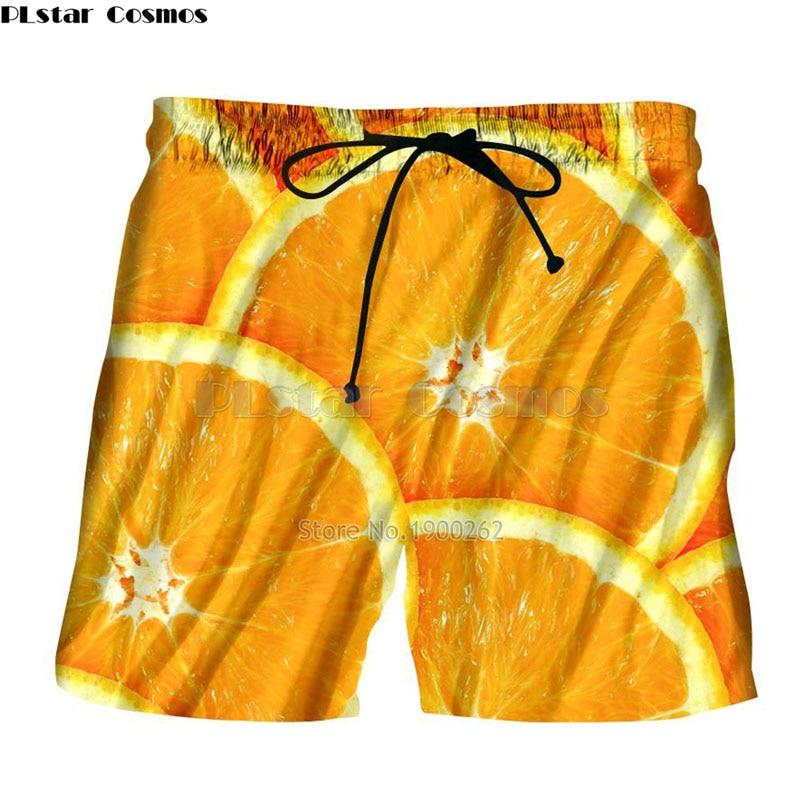PLstar Cosmos Brand Clothing New Style Mens Womens Shorts  Oranges , Pizza, Candy ,hamburger Print 3d Casual Cool Shorts