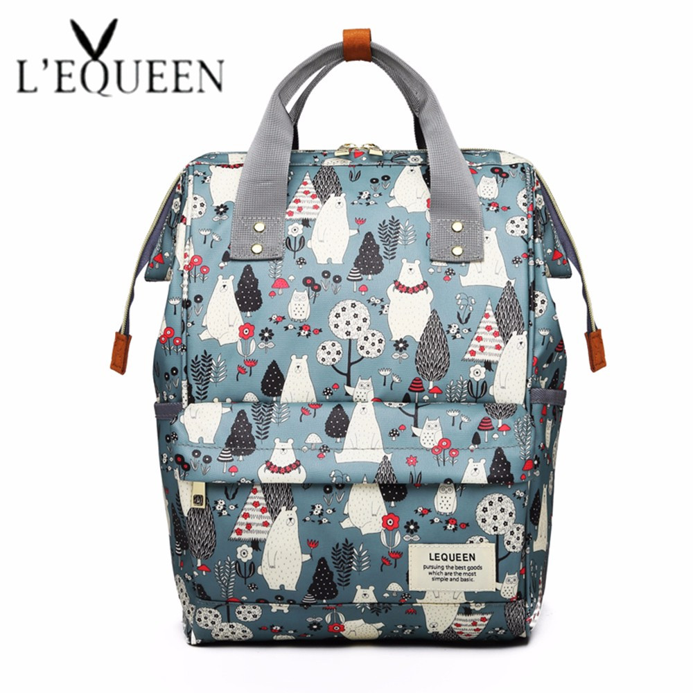 Fashion Bear Baby Nappy Bag Large Capacity Diaper Bag Travel Backpack Designer Stroller Bag Baby Care Mummy Nappy Backpack