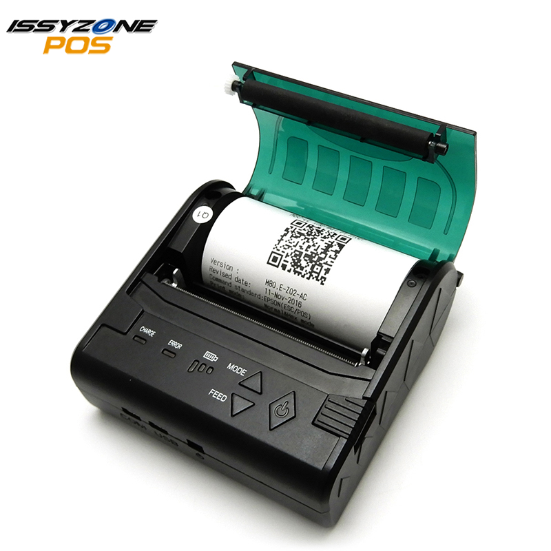 IssyzonePOS IMP004Thermal Receipt 80mm Portable Bluetooth Barcode POS Bill Photo Printer Support Computer Apple Android Free