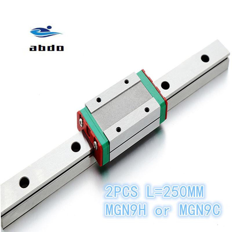 Linear Guide MGN9 MGN12 linear rail way+MGN9C MGN12C or MGN12H linear carriage.