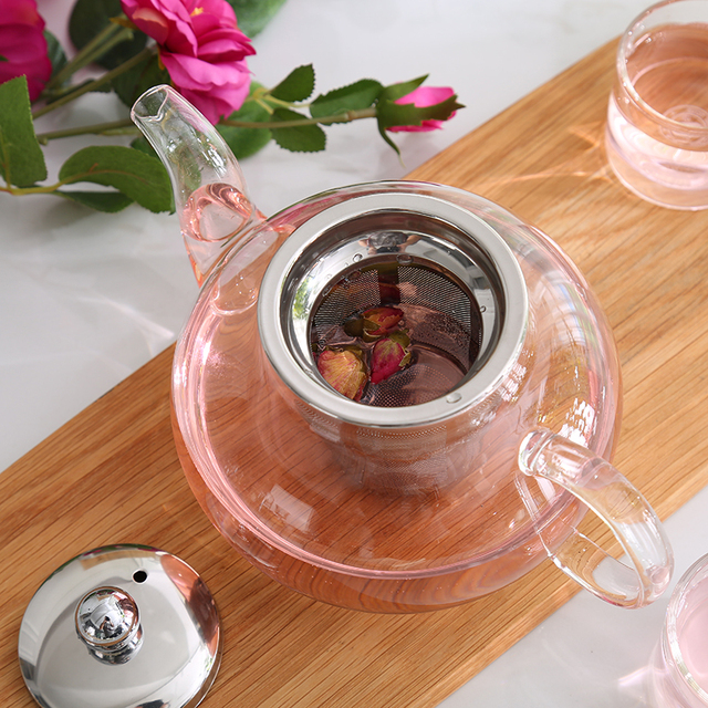 Glass Teapot With Stainless Steel Infuser 5