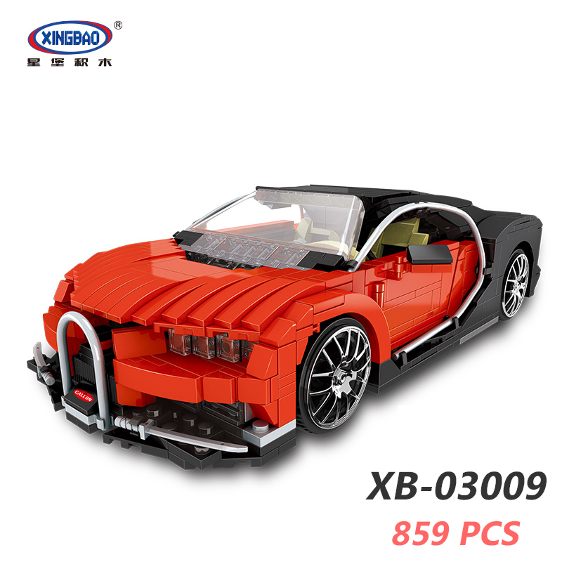 цена XINGBAO 03009 Creative MOC Model The Gallon Supercar Set Building Blocks Compatible LegoINGlys Car TECHNIC Educational Toys