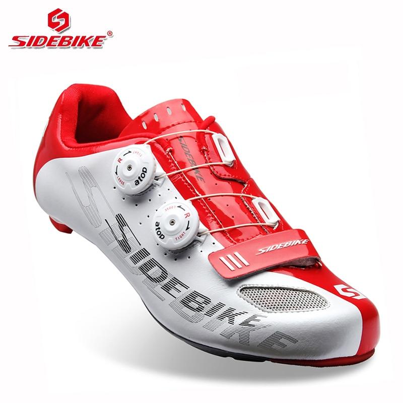 sidebike carbon road bike shoes lock cycling shoes men racing road bike trek bicycle sneakers professional