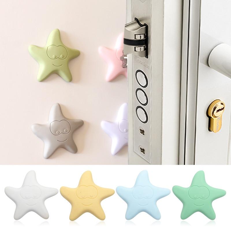 Doorknob Silencer Star Crash Pad Mute Hand Sticker Crash Pad Wall Stickers Collision Avoidance Door Stickers Mute Pad Baby Safe