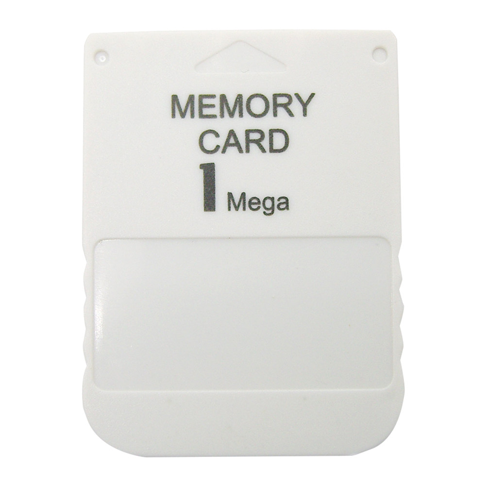 PS1 Memory Card 1 Mega Memory Card For Playstation 1 PS1 PSX Game Useful  Practical Affordable White 1M 1MB