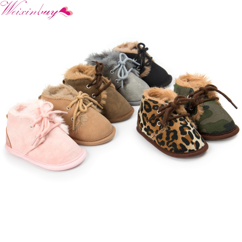 New Winter Wool Wool Cotton Shoes Baby Shoes Snow Boots Small Boots Warm Non-slip Baby Shoes Baby Shoes 0-18M