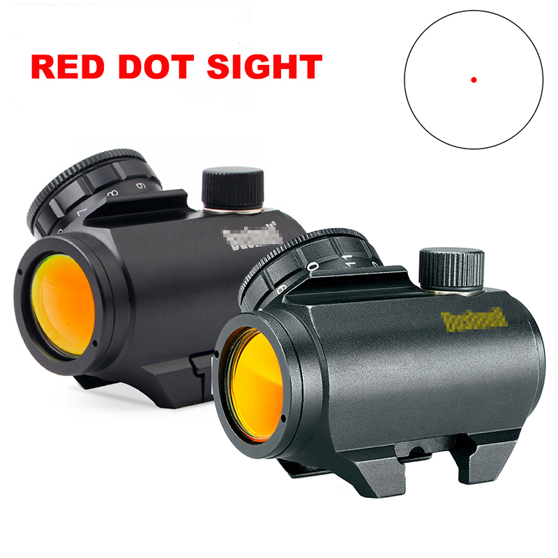 Red Dot Trophy Rifle-Scope Sight Matte Trs-25 Lettering Reticle HD 3MOA Black White/gold