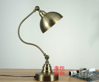 Nordic American Country Classical Imitation Copper Table Lamps Angle Adjustable Lamp Hall Sample Room Lamp SY