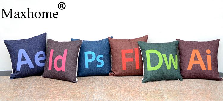 Adobe Design Tool Cotton Linen Pillowcase Creative Photoshop Cushion Decorative Pillow Home Decor Sofa Throw Pillows 45*45