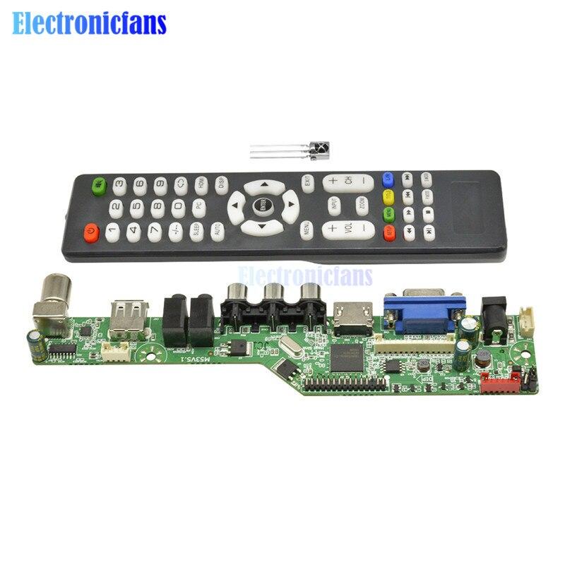 New Universal LCD Controller Board Resolution TV Motherboard VGA/HDMI/AV/TV/USB HDMI Interface Driver Board Module Diymore