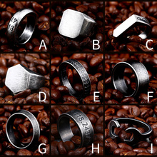 Beier 316L Stainless Steel high polish hexagon vitaly  Antique silver colour cool  fashion jewelry for men and women ring