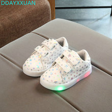 Children shoes with light 2018 nEW Spring Toddler Fashion glowing sneakers