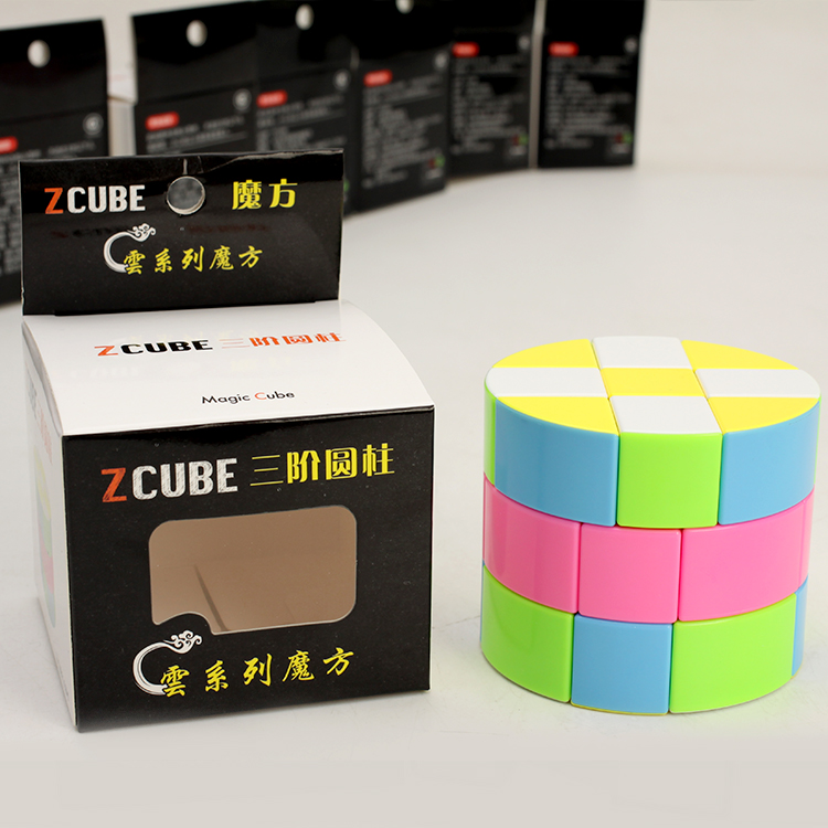 Newest ZCube Cloud 3 layer Cylinder 3x3 Speed Cube Colorful Puzzle Magic Professional Twist Educational Kid