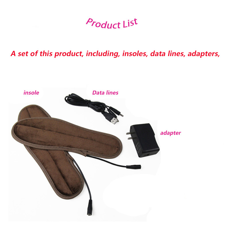 Insoles Winter Men Women New USB Electric Powered Plush Fur Heating Insoles Winter Keep Warm Foot Shoes Insole Heated insole new electric warm heated insole with remote control winter breathable thick plush insoles shoes boots soles foam material 2000ma