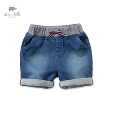 DB2421 dave bella  summer baby boy shorts infant pants toddle clothes boys cotton denim pants kids jeans shorts