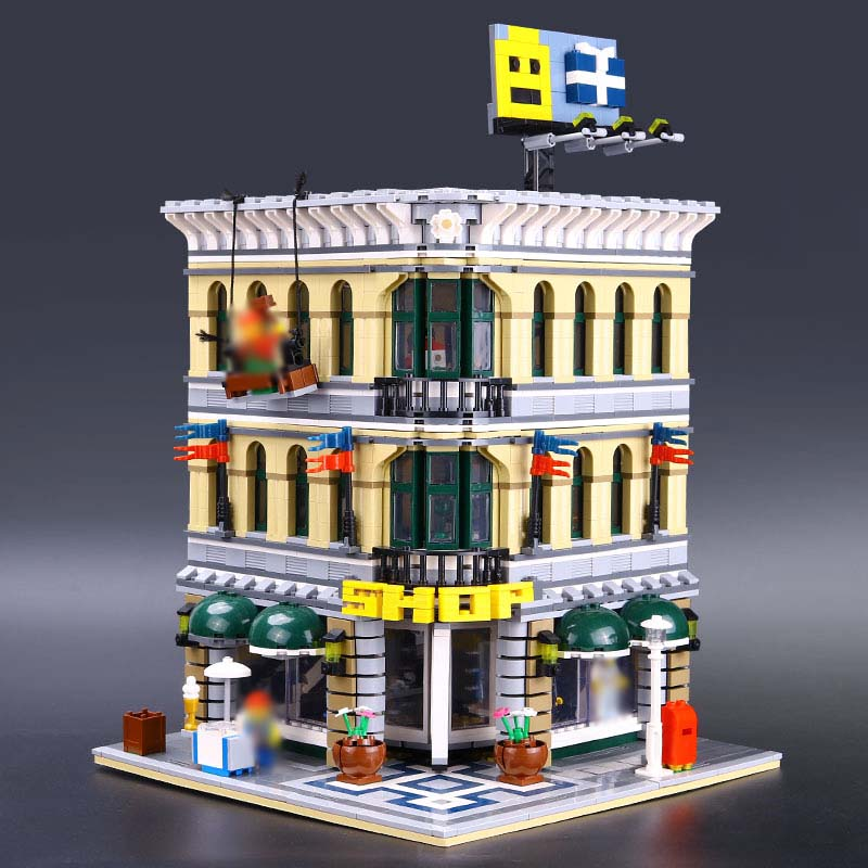 LEPIN 15005 2182Pcs City Grand Emporium Model Building Blocks Kits Brick Toy Compatible Educational legoINGlys 10211 DIY Gift цена