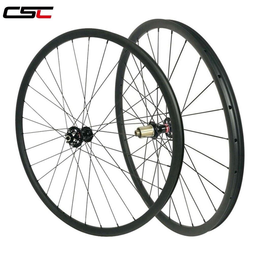 XC 29 Mountain bicycles carbon wheels 30mm width 25mm clincher tubeless hookless D791SB D792SB hub MTB