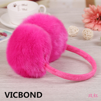 New Hot Sale Autumn Winter Imitation Fur Lovely Solid Color Women Men Plush Earmuffs Warm Fashion