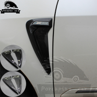 2 Pcs TPU Carbon Fiber Front Fender Side Air Ventilation Car Sticker Nozzle Styling Covers For