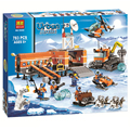 2016 nueva nieve de la ciudad serie policía ártico campamento base diy juguetes de acción building blocks juguetes compatible con ladrillos