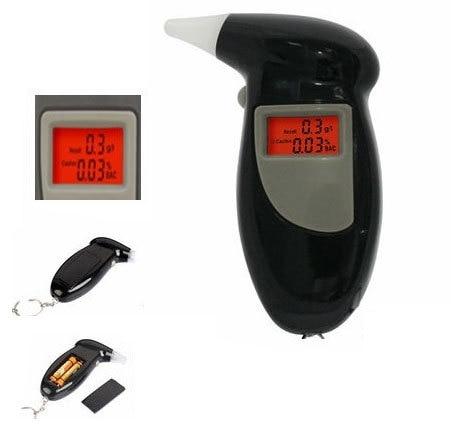 Alcootest-écran numérique éthylotest, avec 4 embouts, testeur d'alcool, respirateur