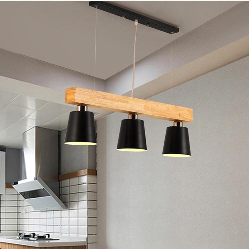 Nortic luxurious wooden lamparas de techo colgante moderna iron art hanglamp parlor master bedroom lights|Pendant Lights| |  - title=