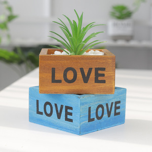 Image 1 - Maceta para planta de jardín, maceta decorativa Vintage, suculenta, cajas de madera, cajones, mesa rectangular, maceta para flores, dispositivo de jardinería