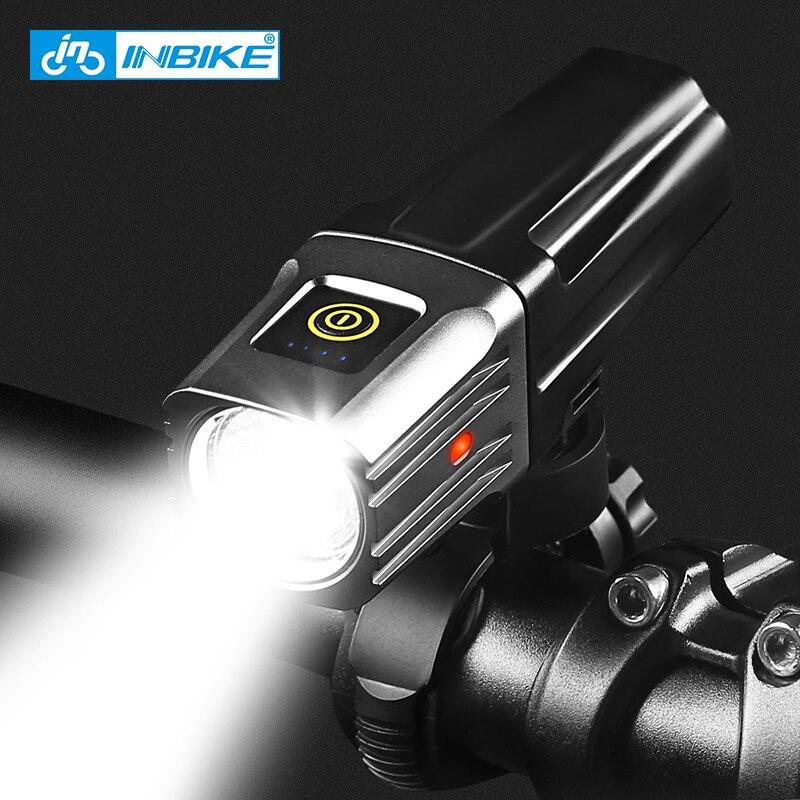 INBIKE High Bright Bike Front Light Cycling USB Rechargeable Headlight Waterproof Biking Lamp Fietslicht 1600lumen Bicycle