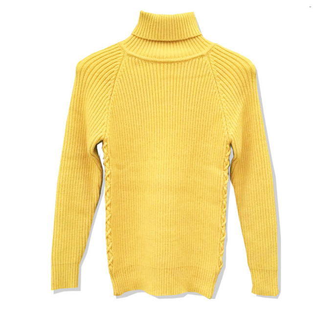 Turtleneck Mens Knitted Sweaters Hot Sale Solid Long Sleeve Autumn ...