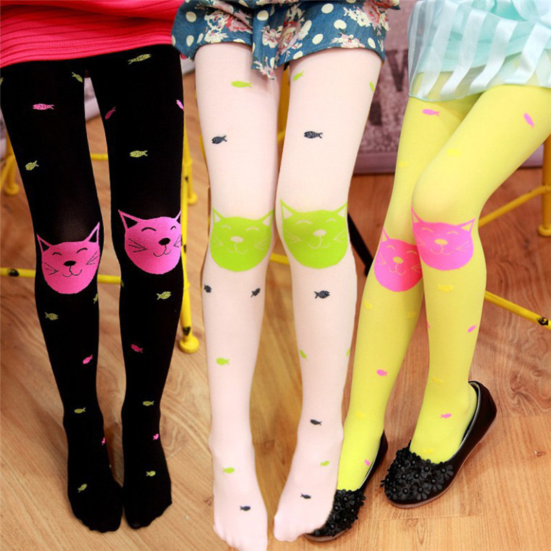 fashion good quality polyester pantyhose kids sweet cartoon lovely girls socks meia infantil dropshipping 3OT12 (11)