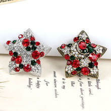 CINDY XIANG Elegant Rhinestone Star Brooches For Women Christmas Vintage Pins Party Jewelry Coat Sweater Accessories Sell Well