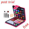GLIMPSE travel/beginner Makeup Eyeshadow Palette set 32 colors Fashion Eye Shadow With Case Cosmetics puff and makeup brush set