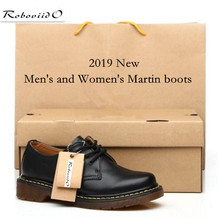Casual low-cut couple shoes Genuine Leather Women Boots dr.