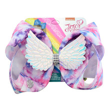 8  Hair Bow Large Sequin Wing Bows Glitter Print Bands For Girl Boutique Bronzing Clip Accessories