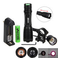 18650 IR Vision nocturne Flashlgith 10W 940nm 5W 850nm LED Zoomable infrarouge rayonnement lanterne torche de chasse tactique + monture de pistolet