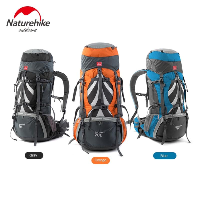 NH Naturehike High Quality Outdoor Climbing Bag Trekking Camping Hiking Travel Bags Backpack Big Load Knapsack Rucksack 70L +5L виброплита бензиновая tsunami со 70l