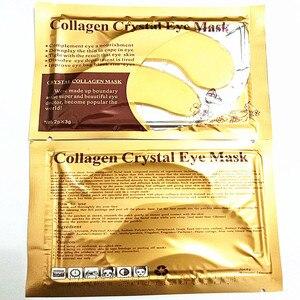 Image 3 - 4 قطعة 2 أكياس الذهب الكولاجين كريستال قناع عين ترطيب العين جولة الجلد غرامة التجاعيد إزالة داكن أسود دائرة لصقة عين الرعاية