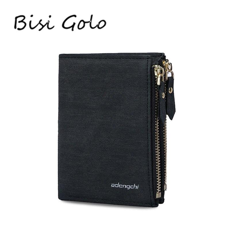 BISI GORO 2018 Brieftasche Männer Vintage Handtasche Doppel-reißverschluss Multifunktions Brieftasche Männlichen Kupplung Geldbeutel Reißverschluss Münzfach Kartenhalter