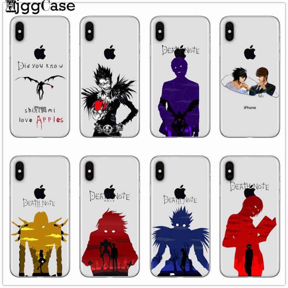 Death Note Ryuk kira TPU Clear soft silicone Coque Shell Phone Case for Apple iPhone 8 7 6 6S Plus X 5 5S SE Cover Fundas Capa