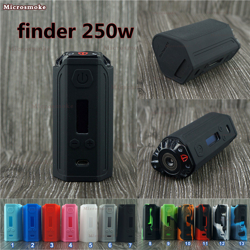 RHS Factory Finder DNA 250 100% Original Silicone Case For DNA 250 Chip Think Vape Finder DNA 250 Box MOD With 13 Colors 1PC