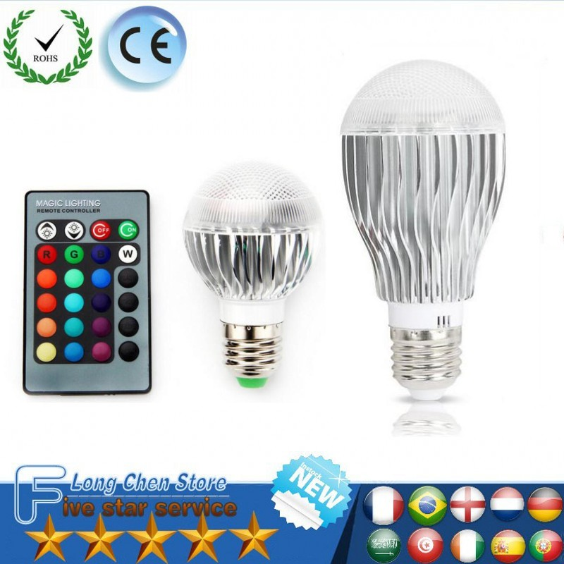 RGB LED Bulb 5W 18W Light Stage Lamp Remote Control Led Lights for Home E27 E14 B22 GU10 MR16 GU10 Memory Function Colour Chang