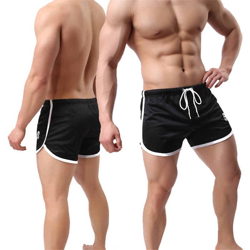 Fitness Shorts For Male Elastic Sweatpants Quick Dry Summer Beach Shorts Boyshorts Solid Clothing 5 Colors Plus Size XXXL