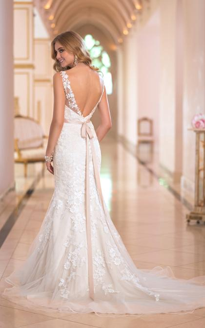 glamorous lace tulle wedding dresses valencia 2017 sheer neck