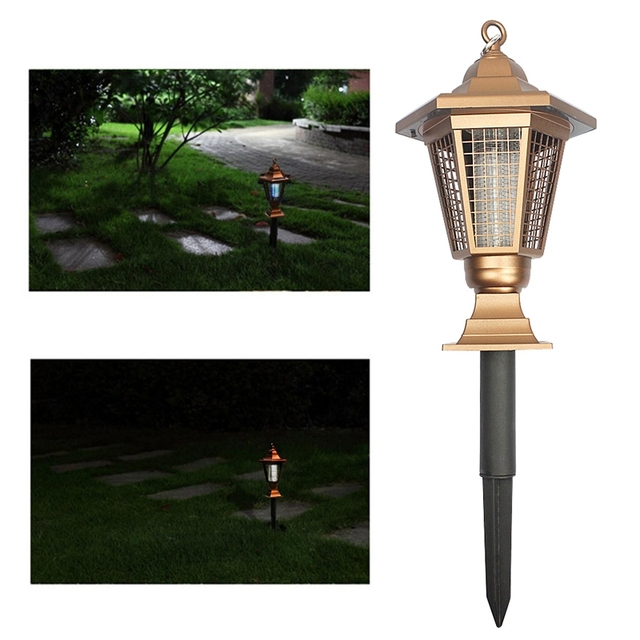 LED Solar Powered Garden Park Anti-Mosquito Bugs Insect Fly Lamps Light