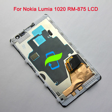 4.5 Original Quality For Nokia Lumia 1020 RM-875 LCD Display With Touch Screen Digitizer Assembly With Frame For NOKIA 1020 LCD stylish protective plastic back case for nokia lumia 1020 white