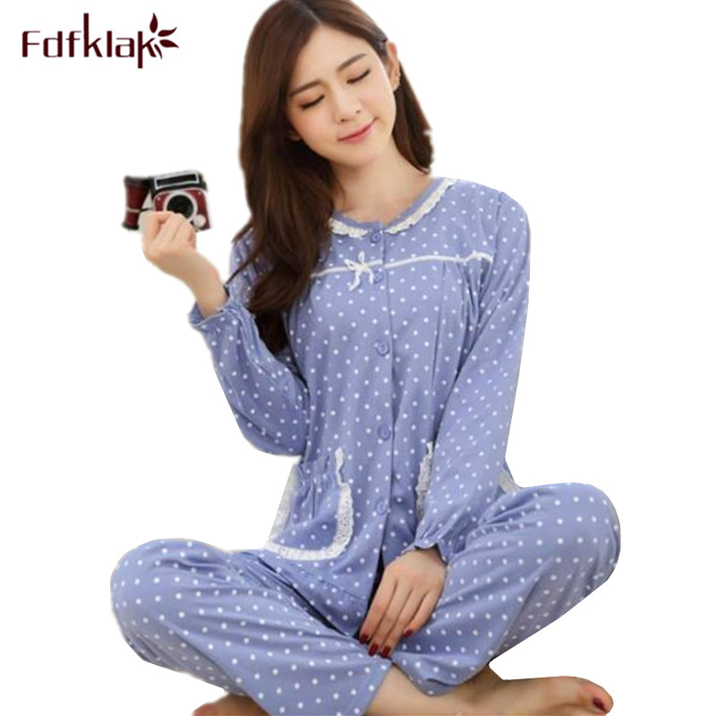 2651a8bde51e Women Cotton Pajamas Ladies Sleepwear Sets Soft Warm Winter Pajamas Sets  2018 New Arrival pijamas mujer pyjama femme Q0154