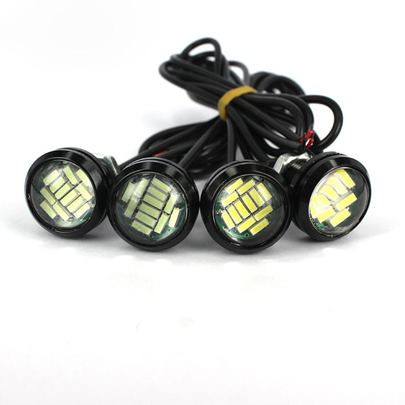 2Pcs 12V 15W ABS Material Car Reversing Lamp Eagle Eye LED Daytime Running DRL Backup Light Driving Light Reversing Light