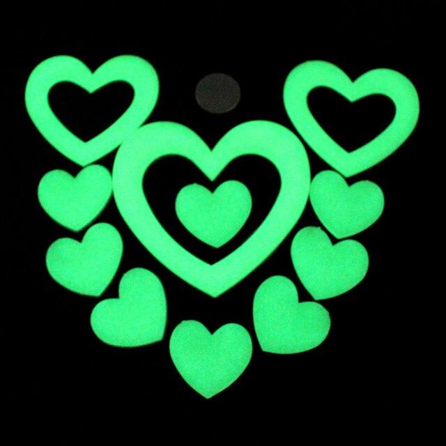 Любовь Световой Флуоресцентные Наклейки детская Комната Стены Завесы Трехмерные Пластиковые Светящиеся Звезды Творческий Подарок