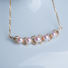 Eternal wedding Women Gift word 925 Sterling silver real [i] sell pearl Seiko 18 karat  Japanese natural seawater pearl necklace
